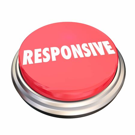 Responsive Feedback Intuitive Button 3d Illustration Banque d'images