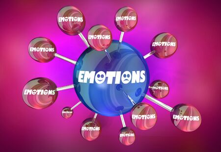 Emotions Feelings Spreading Sharing Connections 3d Illustration Stockfoto