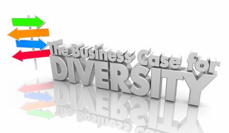The Business Case for Diversity Arrow Signs Inclusion 3d Illustration 版權商用圖片