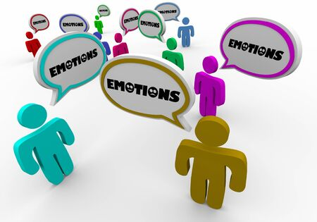 Emotions People Feelings Share Sharing Group Therapy 3d Illustration