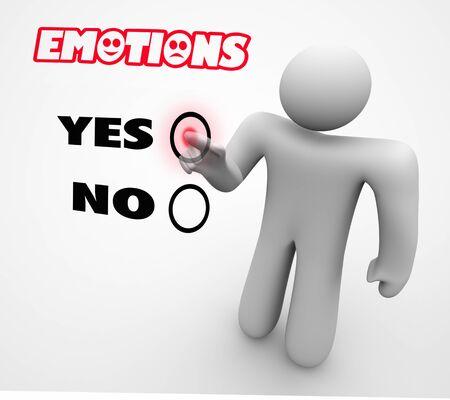 Emotions Feelings Experiences Person Choosing Choice 3d Illustration Stockfoto
