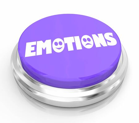 Emotions Button Happy Sad Instant Feel Better Help 3d Illustration