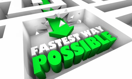 Fastest Way Possible Break Through Overcome Obstacles 3d Illustration
