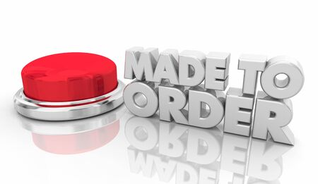 Made to Order Custom Request Button 3d Illustration Imagens