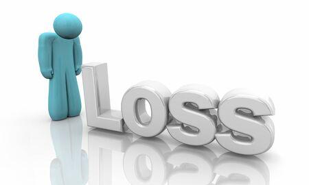 Loss Sadness Alone Isolation Death Depression Person 3d Illustration Stockfoto