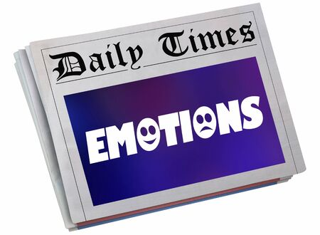 Emotions Feelings Experience Share Newspaper Headline Story Article 3d Illustration