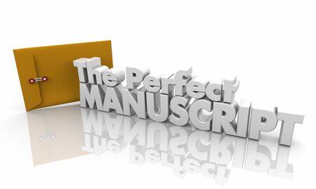 The Perfect Manuscript Submission Envelope Documents 3d Illustration 스톡 콘텐츠 - 128722235
