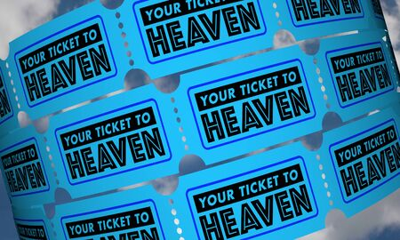 Your Ticket to Heaven Get Into Great Beyond 3d Illustration Imagens