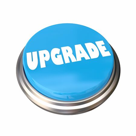 Upgrade Update Improve Button Word 3d Illustration
