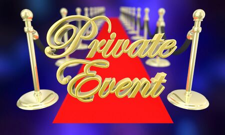 Private Event Exclusive Party VIP Red Carpet 3d Illustration