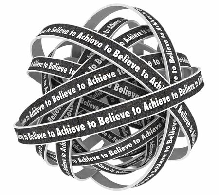 Believe to Achieve Have Faith Belief Success 3d Illustration 写真素材 - 129655193