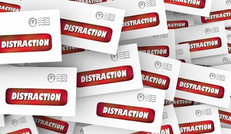 Distraction Annoying Direct Mail Junk Envelopes 3d Animation 写真素材