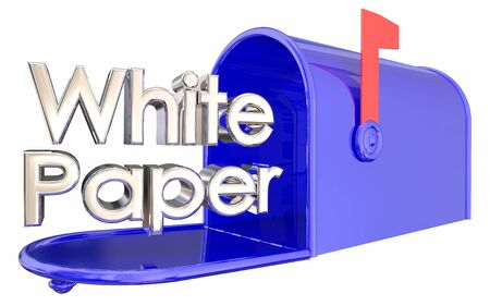 White Paper Research Report Analysis Mailbox 3d Illustration