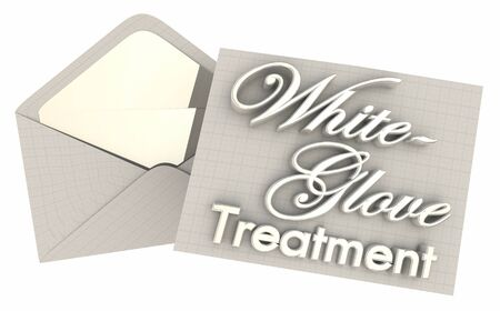 White Glove Treatment VIP Extra Attention Care 3d Illustration