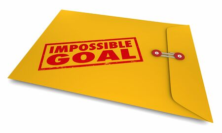 Impossible Goal Hard Difficult Tough Challenge Envelope 3d Illustration