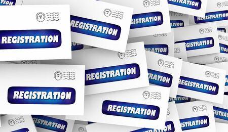 Registration Signing Up Confirmation Message Envelope 3d Illustration