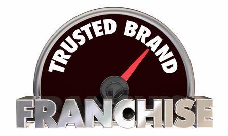 Franchise Opportunity Business Trusted Brand Speedometer 3d Illustration