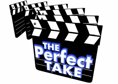 The Perfect Take Film Movie Shoot Clapper 3d Illustration Stockfoto - 129826274
