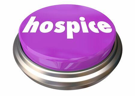 Hospice Care Button Instant Assistance Help Assistance 3d Illustration Stock fotó