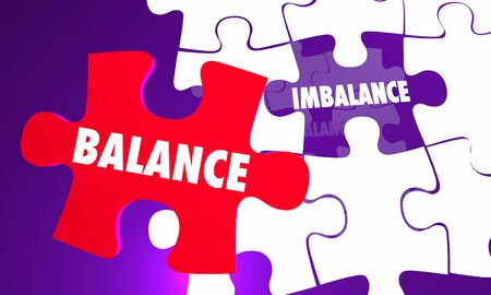 Balance Vs Imbalance Puzzle Equal Fair Treatment 3d Illustration
