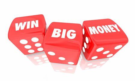 Win Big Money Rolling Dice Jackpot Gamble 3d Illustration.jpg