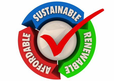 Renewable Sustainable Affordable Best Choice Cycle 3d Illustration