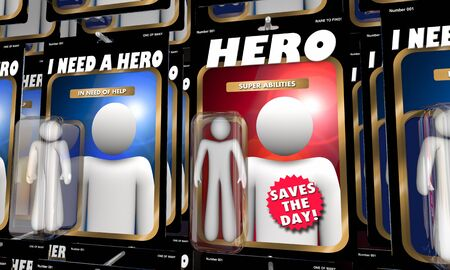 Hero Super Abilities Person Action Figure Saves the Day 3d Illustration