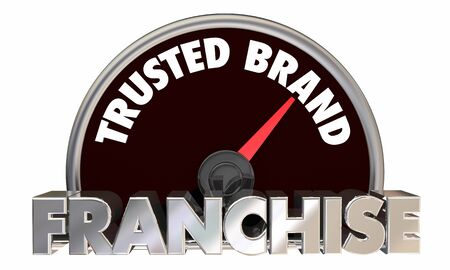 Franchise Opportunity Business Trusted Brand Speedometer 3d Illustration