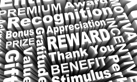 Reward Incentive Recognition Appreciation Gift Words 3d Illustration