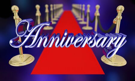 Anniversary Red Carpet Party Event Celebration 3d Illustration