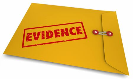 Evidence Proof Confidential Findings Facts Envelope 3d Illustration