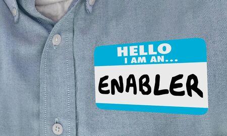 Enabler Name Tag Making Behavior Possible 3d Illustration 版權商用圖片