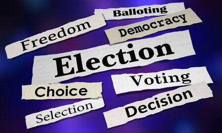 Election Voting Democracy Choice Winner Newspaper Headlines 3d Illustration