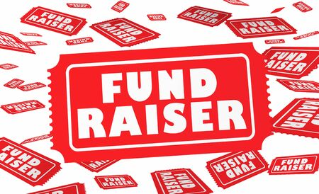 Fund Raiser Tickets Raffle Content Money Drive 3d Illustration