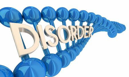 Disorder Syndrome Genetic Disease DNA Word 3d Illustration