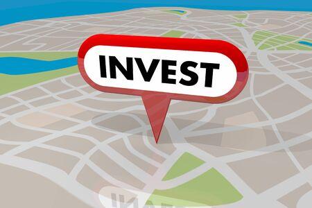 Invertir inversión inmobiliaria propiedad inmobiliaria comprar ilustración 3d