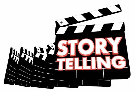 Story Telling Film Making Movie Produciton Clapper Boards 3d Illustration
