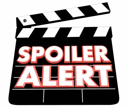 Spoiler Alert Secret Ruin Ending Revealed Movie Film Clapper 3d Illustration Stock Photo