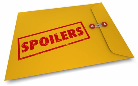 Spoilers Envelope Secrets Giving Away Ruin Ending Story 3d Illustration Stock Illustration - 132801847