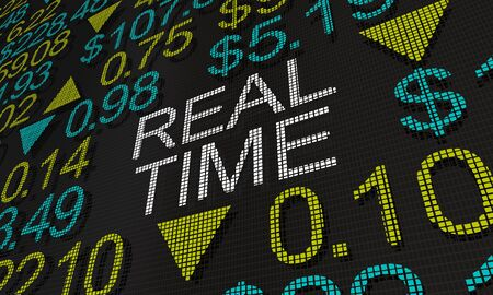 Real-Time Stock Market Prices Information Tracker 3d Animation Stock Photo