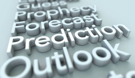 Prediction Outlook Forecast Guess 3d Words Illustration