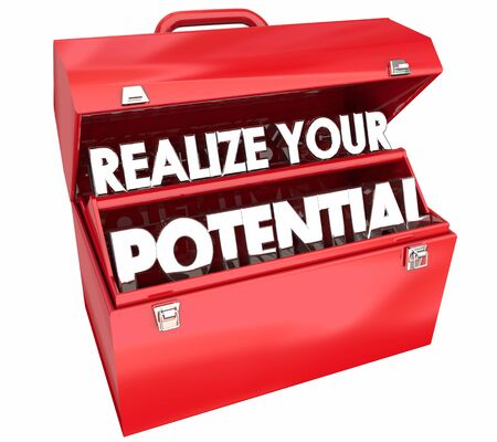 Realize Your Potential Toolbox Skill Talent Training 3d Illustration