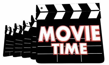 Movie Time Film Clappers Cinema Showtime Theater 3d Illustration