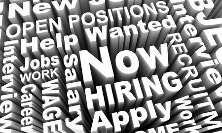 Now Hiring New Jobs Recruitment Career Help Wanted 3d Illustration