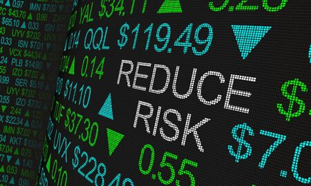 Reduce Risk Stock Market Loss Diversify Investment 3d Animation