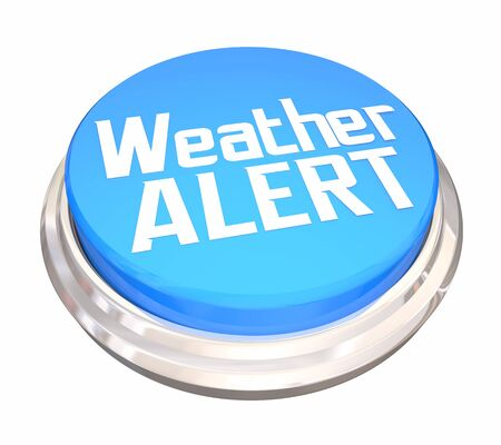 Weather Alert Emergency Storm Update Button 3d Illustration