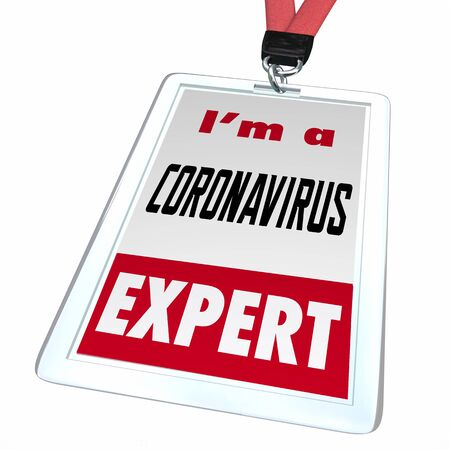 Coronavirus Expert Badge Help COVID-19 Outbreak Pandemic 3d Illustration Banco de Imagens