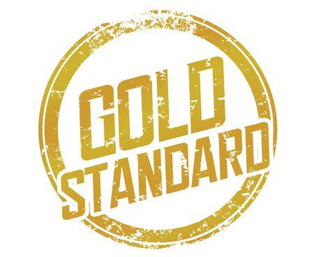 Gold Standard Stamp Best Practice Example Comparison Measure Performance Illustration Banque d'images