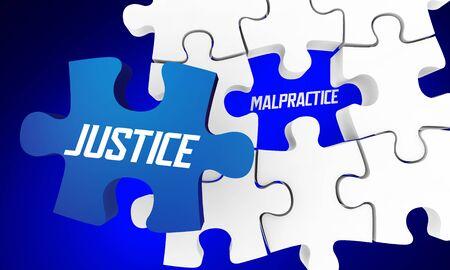 Justice for Malpractice Medical Lawsuit Attorney Case 3d Illustration