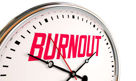 Burnout Exhaustion Stress Clock Time Overworked 3d Illustration